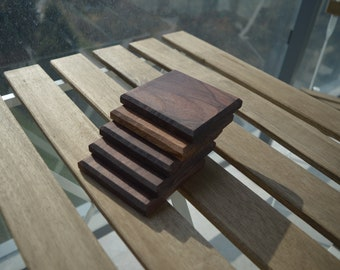 Musowood Set of 2 Black Walnut Coaster