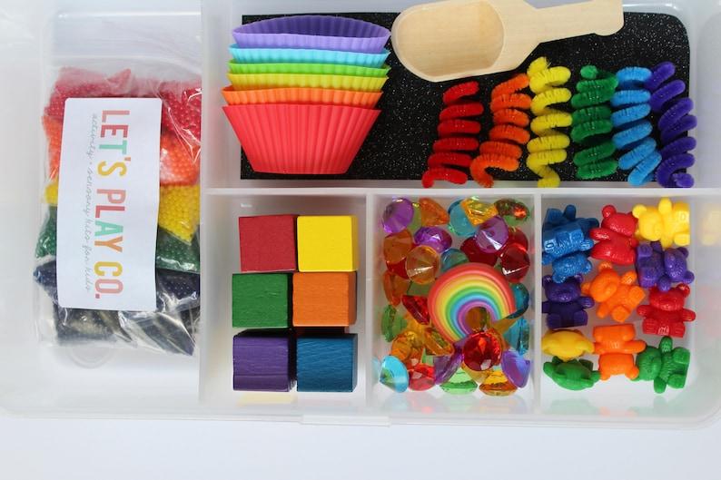 Sensory Kit  Sensory Bin  Sensory Box  Rainbow  Water Bead image 0