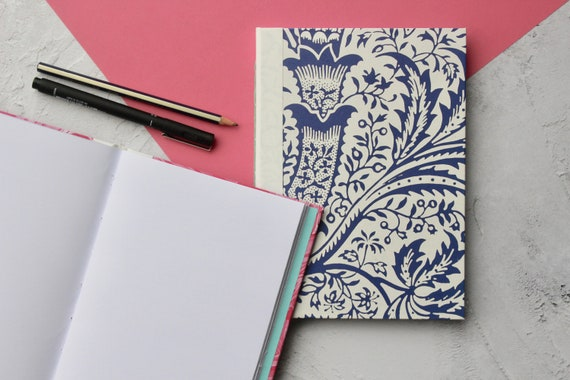 A5 Chain Stitch Notebook | Handmade A5 Notebook | Decorative Bright Notebook | Gift Idea for Teacher