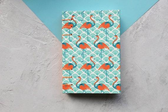 Flamingo Sketchbook | A5 Handmade Sketchbook | Coptic Bound Sketchbook | Gift for Artist