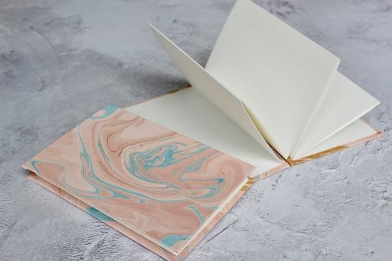 Concertina Watercolour Sketchbook | Marbled Sketchbook | Handmade Stationery | Gift for Artists