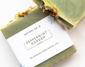 Peppermint Garden Soap Bar Handmade Soap All Natural Organic Soap 5 oz Gift for him Self care gift Spring Collection