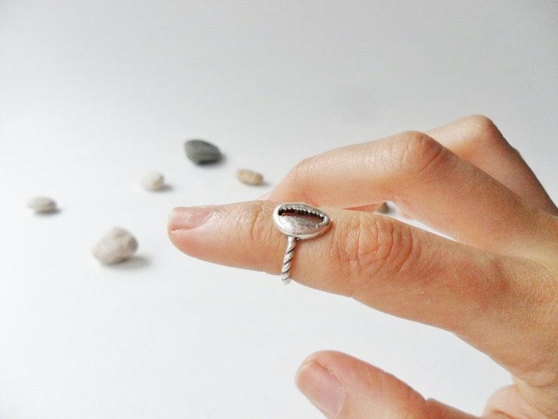 Silver Coffee Ring Coffee Bean Ring Coffee Lower Jewellery Barista Gift Coffee Jewellery Minimal Midi Ring