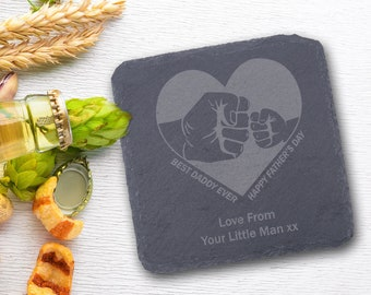 Father/'s Day Coaster Gift For Him Coaster Gift For Dad Beer Is A Good Idea Beer Coaster Set For Men Engraved Slate Coaster Set Dad
