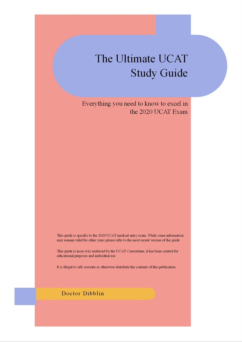 The Ultimate 2020 UCAT Study Guide image 0