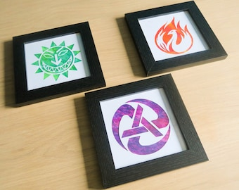 Levellers Framed Wall Art, Hand-painted Artwork & Wall Decor | 3 Designs: Rolling Anarchy, Peace Phoenix, Sun Face | Gift for Music Fans