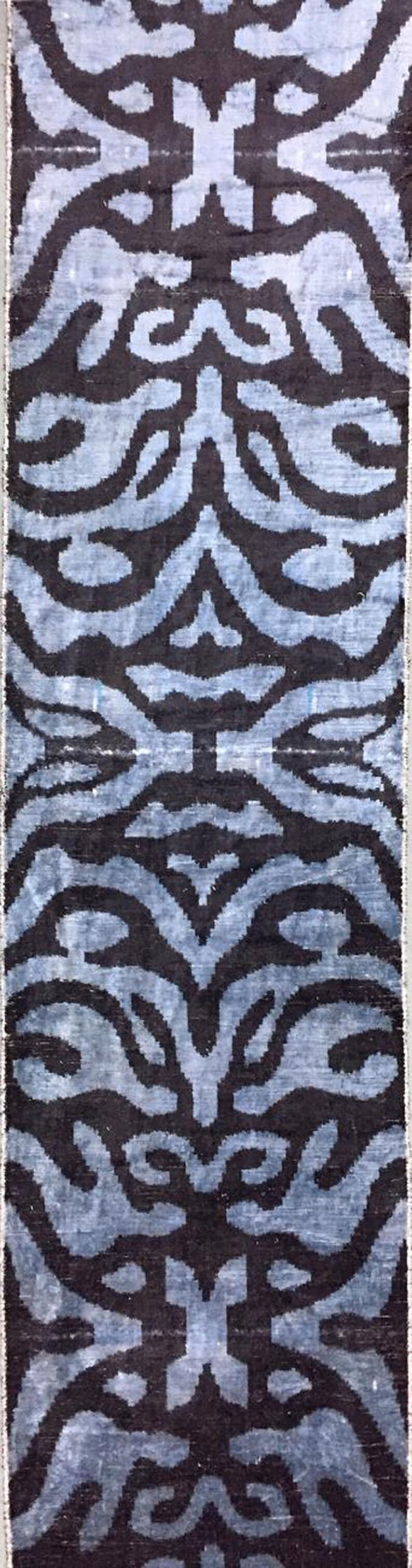 Handmade Ikat velvet fabr\u0131c narrow fabr\u0131c
