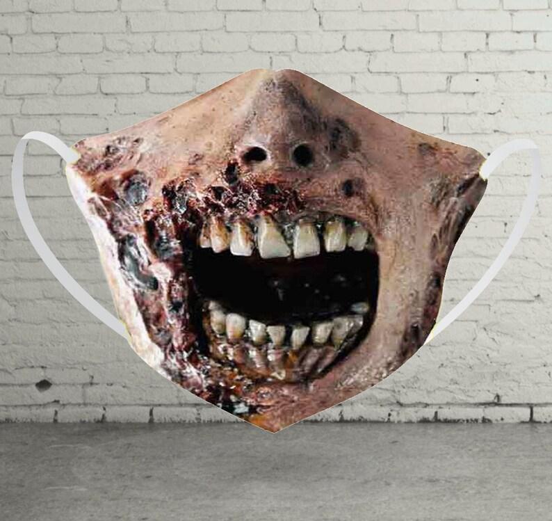 Zombie Monster Horror Face Mask OEKO-Tex Standard 100 Print image 0