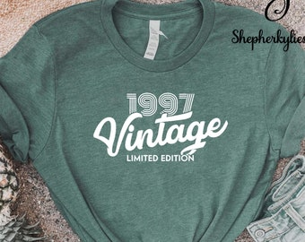 Vintage 1997 Limited Edition Shirt, 24th Birthday Shirt, 24th Birthday Gift, 1997 Birthday Shirt, Born in 1997