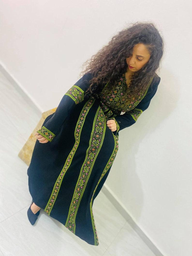 Green Palestinian Thobe Size 4