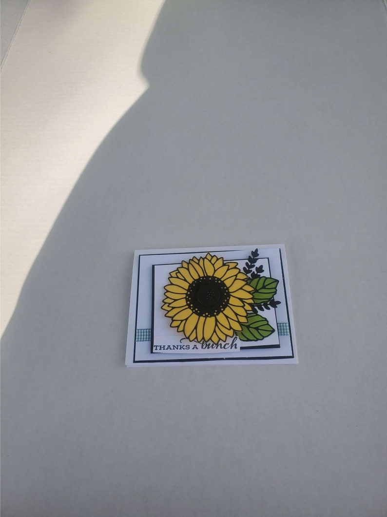 Sunflower stampin up thank you