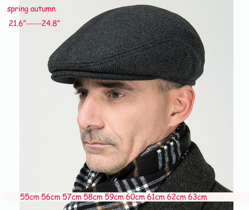 1pack Middle aged and old people/'s autumn and  spring woolen ear protective duck tongue cap old man/'s cotton Hat old age cap 84