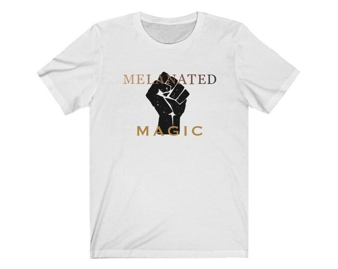 Featured listing image: Melanated Magic - Unisex Jersey Short Sleeve Tee