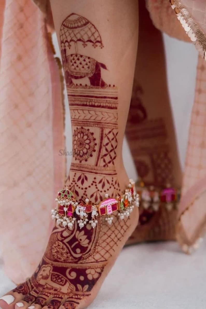 payal anklet Bridal Payal Baraat payal meenakari payal