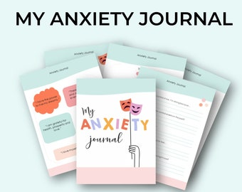 Printable Anxiety Journal | Guided Anxiety Prompts | Daily Affirmations