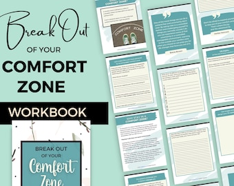 Printable Growth Mindset Workbook | Step Out of Your Comfort Zone | Personal Development