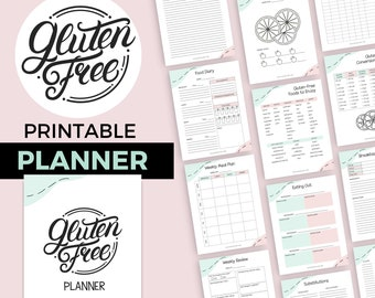 Gluten-Free Planner | Printable IBS and Celiac Journal | Food Tracking
