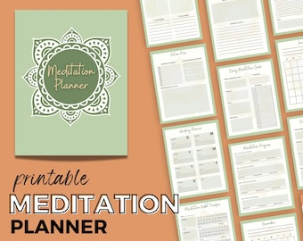 Meditation Planner | Printable Daily Mindfulness Diary | Wellness Journal