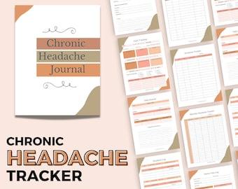 Chronic Headache Tracker | Printable Migraine Journal | Pain Tracking Log