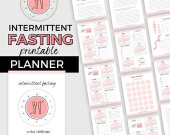 Intermittent Fasting Planner | Printable Fasting Lifestyle Organizer | A4 and US Letter PDF