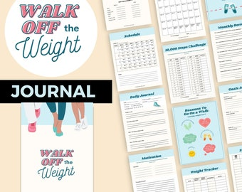 Walk Off the Weight Planner | Printable Weight Loss Tracker | Walking Journal