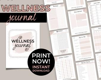 Printable Wellness Journal | Self-Care Planner | Wellness Habit Tracking Workbook