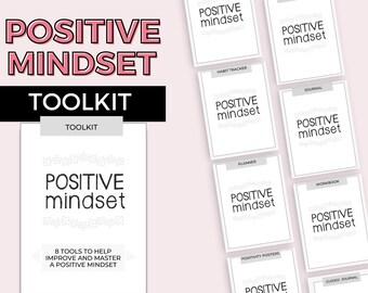 Printable Positive Mindset Bundle | Growth Mindset Toolkit | Mindset Journal, Workbook, Planner, Habit Tracker