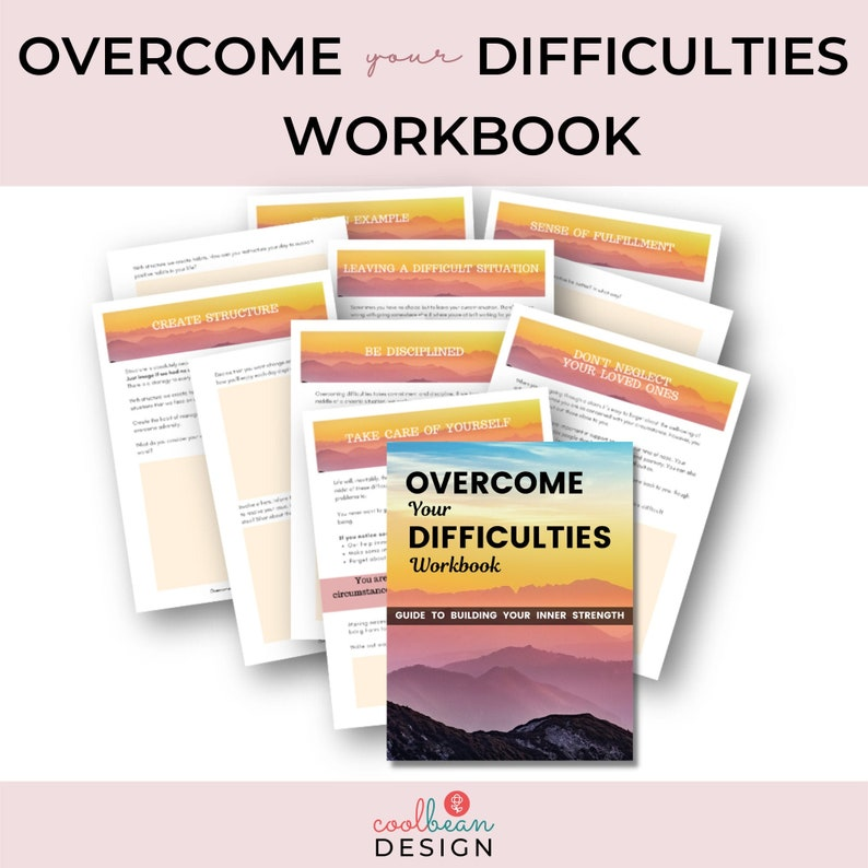 Overcome Difficulties Workbook  Find Inner Strength  image 0