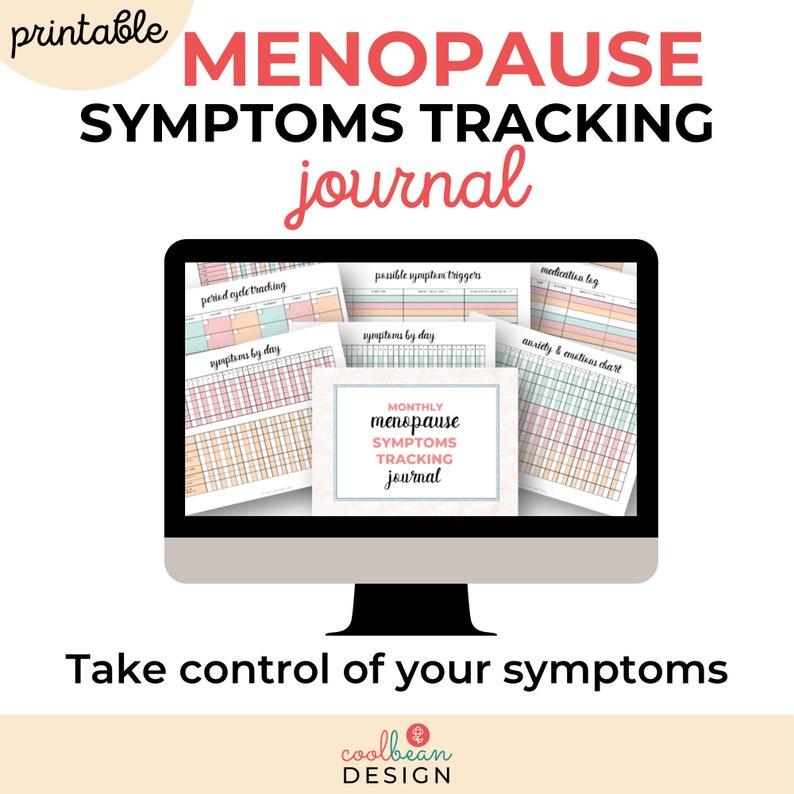 Printable Menopause Symptoms Tracking Journal  Chart image 0