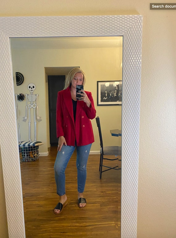 Slightly Oversized Vintage Women's Red Blazer