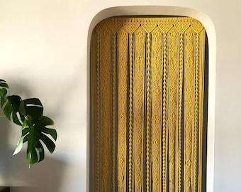Macrame door curtain / home decor / arched doorway portiere / hanging curtain / housewarming gift / wedding gift / wedding decor