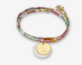 Personalised Liberty Bracelet 100% Cotton Cord, Women's Jewellery, Women's Bracelet, BFF, Mother's Day Gift