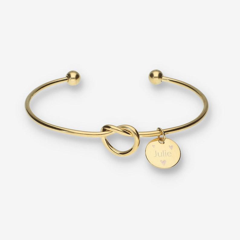 personalized bracelet Knot bracelet Bridesmaids gifts Friendship bracelet gift for mom initial bracelet Grandmother gift