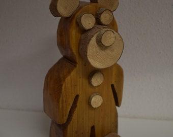 Wooden bear handmade