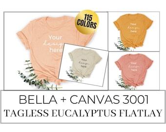 Bella and Canvas Mockup for 3001 Flatlay Unisex TShirt Mockup *MEGA BUNDLE* for Printful Printify Mockups, Unisex Shirt Mockups