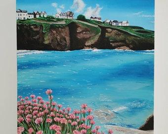 Port Gaverne Original Acrylic Painting on a box canvas