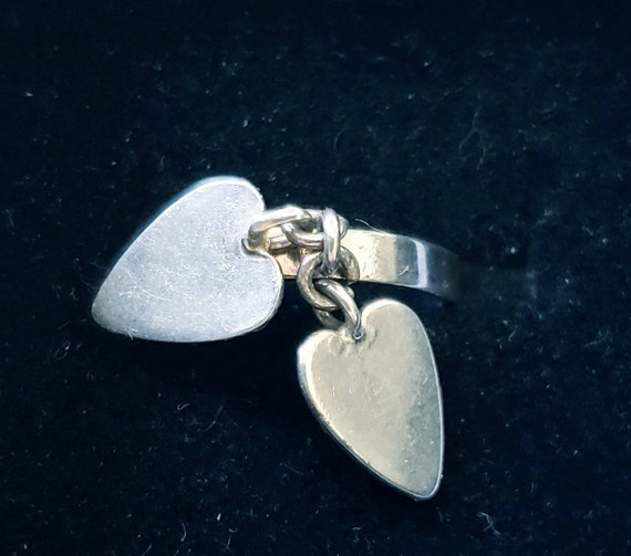 Sterling heart ring | double heart ring | Valentin