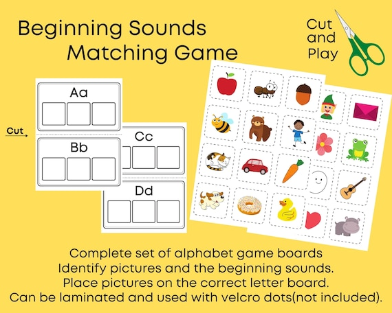 Preschool Worksheets Phonics Worksheets Beginning Sounds Etsy
