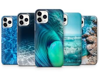 Ocean Pattern iPhone Case Water Tough Case Snap Case Samsung Case Google Pixel Case Sea Blue