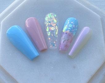 Baby Blue Nails Etsy
