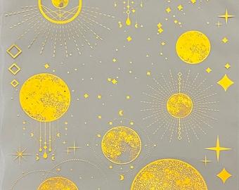 Resin Foil Sheet Cosmos Queens 2