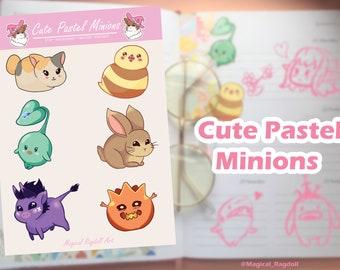 FFXIV Pastel Cute Minion Stickers