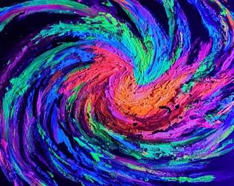 Galaxy Burst UV Reactive Psychedelic textured 3-d Art