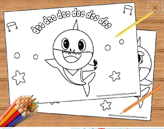 Baby Shark Song 10 Coloring Pages Super Simple Coloring