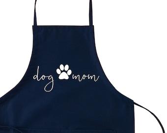 Handmade Child Size Apron Dogs on Blue