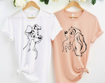 His Lady AND Her Tramp Personalized Shirts 2 SHIRTS Couples Shirt Lady /& Tramp