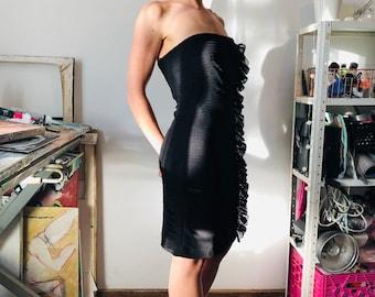 1990s Calvin Klein Dress Brown