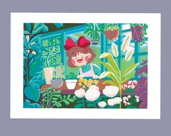 Kiki the Little Witch Window Artprint