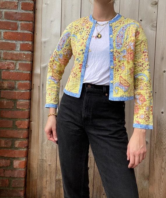Vintage Reversible Paisley Cardigan Jacket, quilte