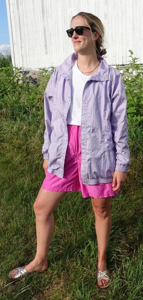 Vintage Purple Haband Windbreaker Jacket, Purple w